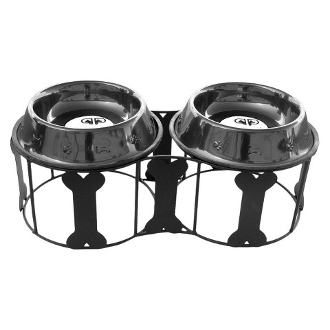 Platinum Pets Deluxe Bone Double Feeder
