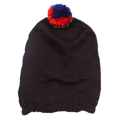 MUK LUKS®  Beanie Hat with Pom - Black