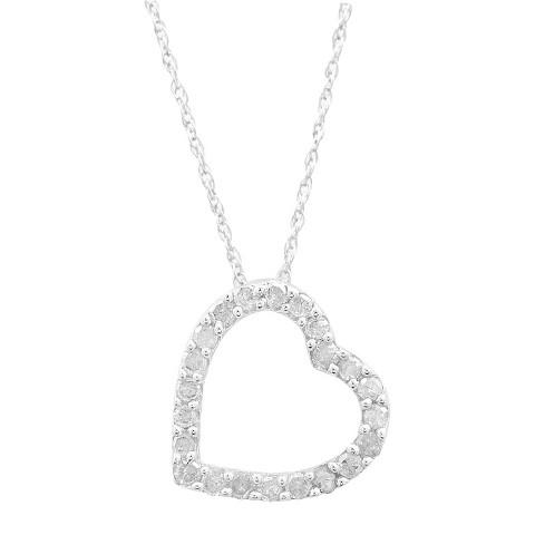 1/4 CT. T.W. Diamond Heart Pendant in Sterling Silver