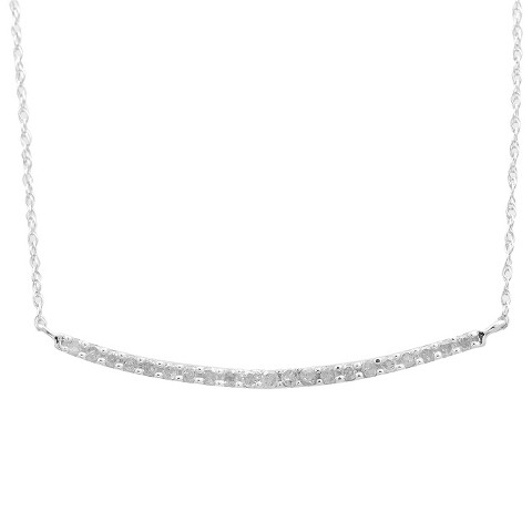 1/4 CT. T.W. Diamond Single Row Necklace in Sterling Silver