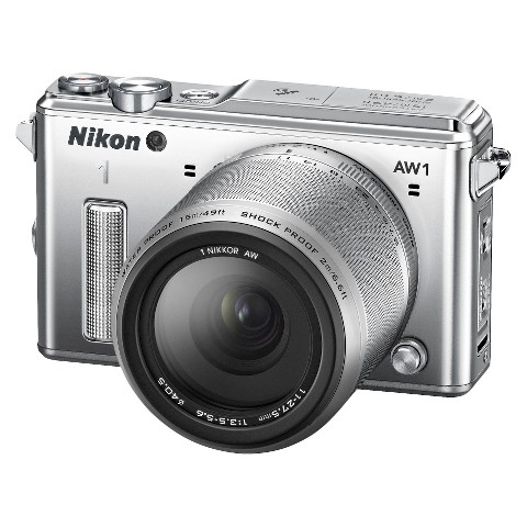 Nikon 1 AW1 14.2MP HD Digital Camera with AW 11-27.5mm f/3.5-5.6 1 Nikkor Lens - Silver