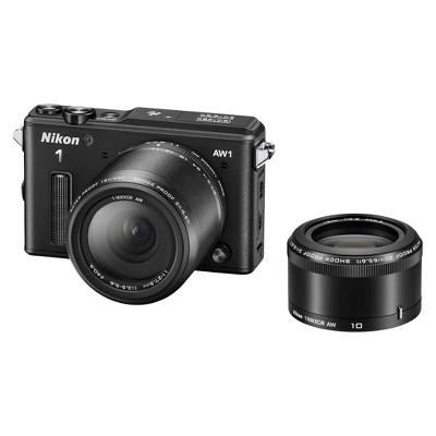 Nikon AW1 14.2 MP HD Digital Camera with AW 11-27.5mm f/3.5-5.6 and AW 10mm 1 NIKKOR Lenses (Black)