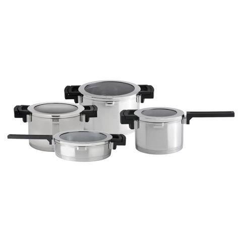 BergHOFF Neo 8 Piece Cookware Set - Silver