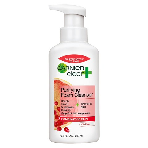 Garnier® Clean + Purifying Foam Cleanser For Combination Skin - 6.8 fl oz