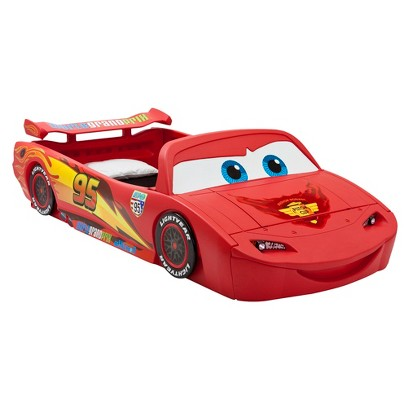 Toddler Bed: Disney/Pixar Cars Toddler-to-Twin Bed with Lights and