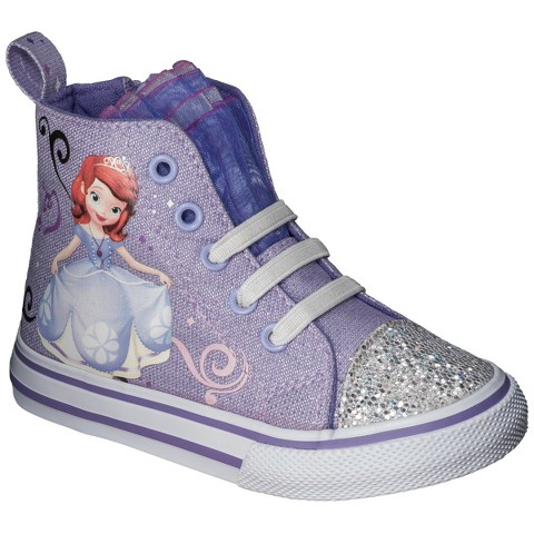Toddler Girl's Sofia The First High Top Sneakers - Purple