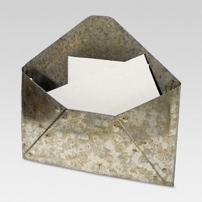 Galvanized Metal Envelope Mail Holder