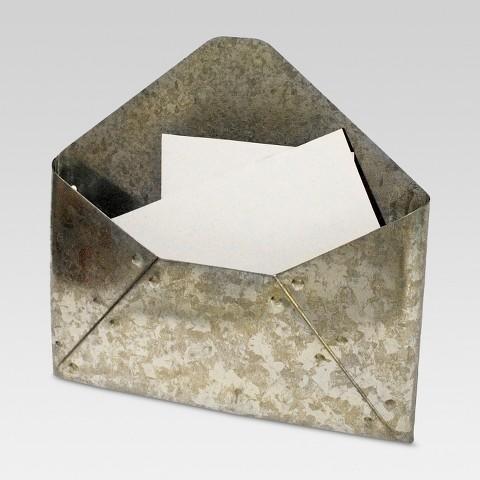 Galvanized Mail Holder