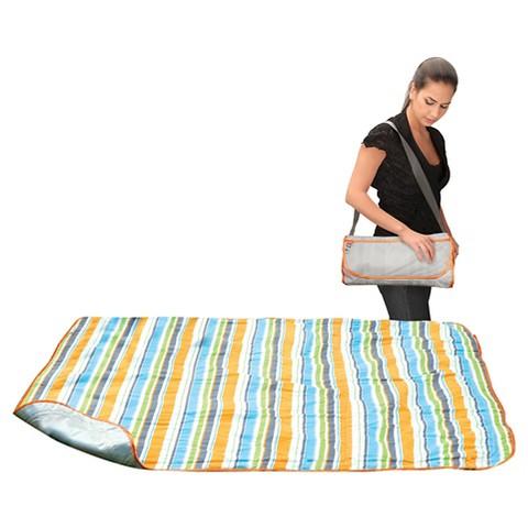 Lulyboo Easy Roll-Up Travel Blanket - Summer Stripe