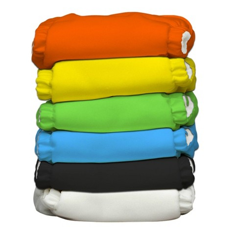 Charlie Banana Reusable Diaper 6 Pack One Size - Assorted Colors