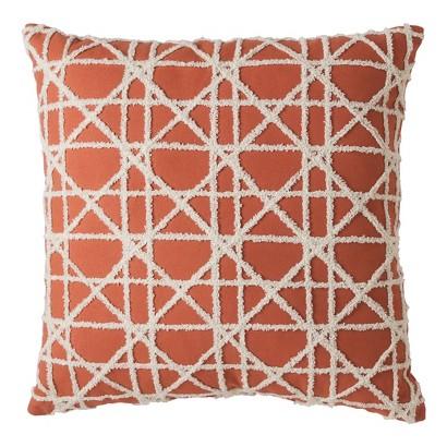 "Threshold™ Grid Applique Toss Pillow (18x18"")"