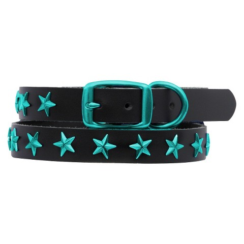 Platinum Pets Genuine Leather Dog Collar with Stars