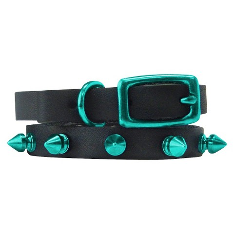 Platinum Pets Genuine Leather Cat & Puppy Collar with Spikes