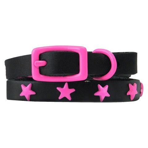 Platinum Pets Genuine Leather Cat & Puppy Collar with Stars