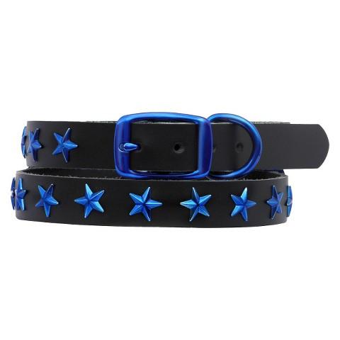 Platinum Pets Genuine Leather Dog Collar with Stars