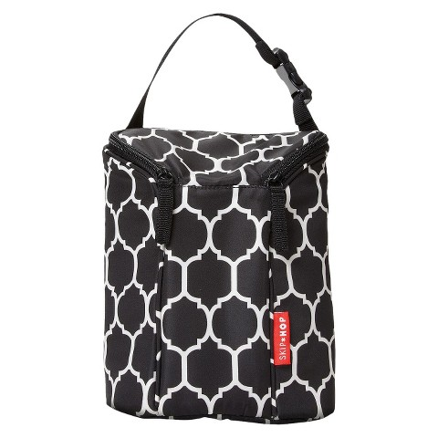 Skip Hop Grab and Go Double Bottle Bag - Onyx Tile