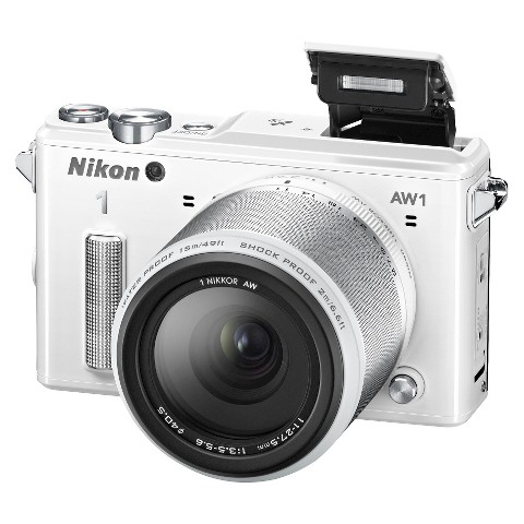 Nikon 1 AW1 HD Digital Camera with AW 11-27.5mm f/3.5-5.6 1 Nikkor Zoom Lens - White