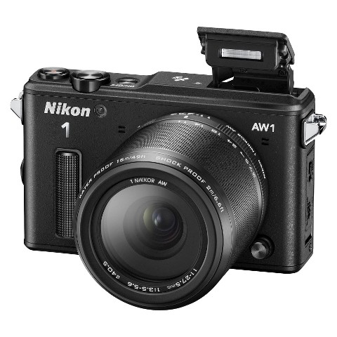 Nikon 1 AW1 14.2 MP HD Digital Camera System with AW 11-27.5mm f/3.5-5.6 1 Nikkor Lens - Black