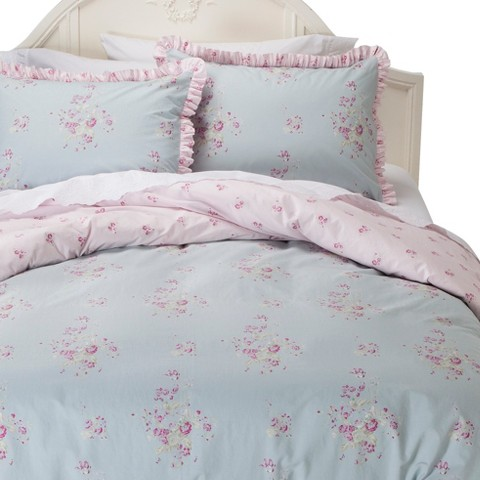 Simply Shabby Chic® Faded Paper Rose Duvet Cover Set