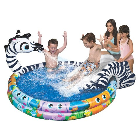 Banzai Spray N' Splash Pool - Zebra