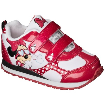 Toddler Girl's Minnie Sneaker - Red