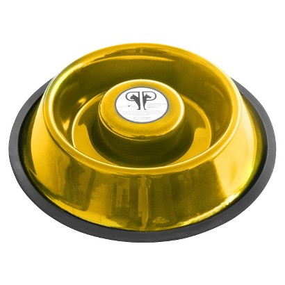 Platinum Pets Small Stainless Steel Non-Embossed Slow Eating Bowl