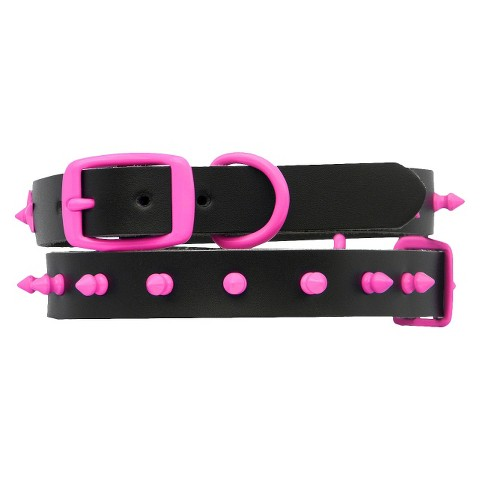 Platinum Pets Genuine Leather Dog Collar with Spikes