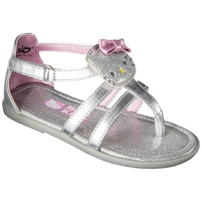 Toddler Girl's Hello Kitty Sandals - Silver