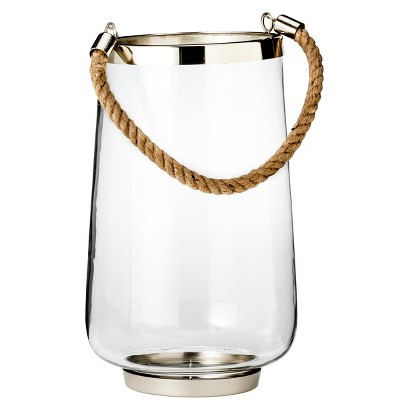 "Threshold™ 13"" Nautical Hurricane With Rope Handle"