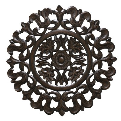 Carved Wood Wall Panel