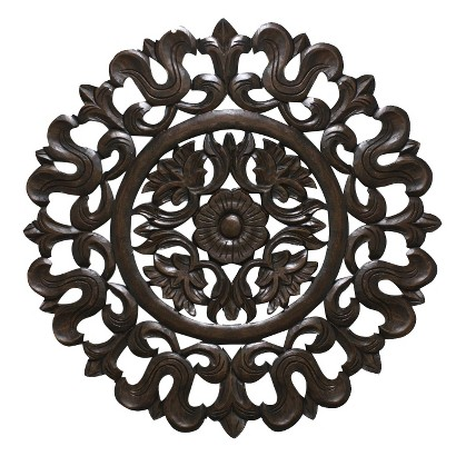 Carved Wood Wall Panel 30x30