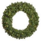 "Pre-Lit LED Grand Teton Wreath - Clear Lights (48"")"