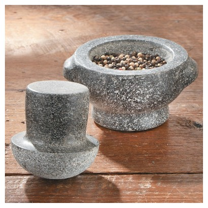 CHEFS Granite Mushroom Mortar and Pestle