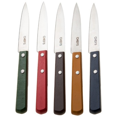 CHEFS Colorful Paring Knives, Set of 5