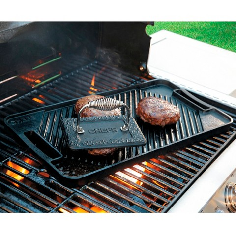 CHEFS Cast Iron Reversible Grill/Griddle