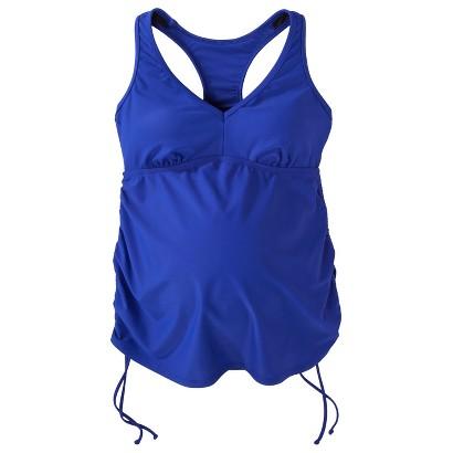 Women's Maternity Cinched Racerback Tankini Swim Top - Assorted Colors
