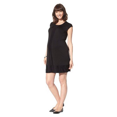 Maternity Cap Sleeve Shift Dress Black-Liz Lange® for Target®