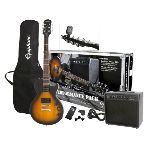 Epiphone Les Paul Performance Pack Electric Guitar Pack- Sunburst