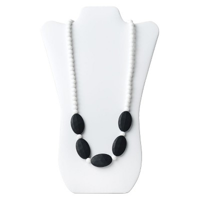 Nixi by Bumkins Sasso Teething Necklace - White/Black
