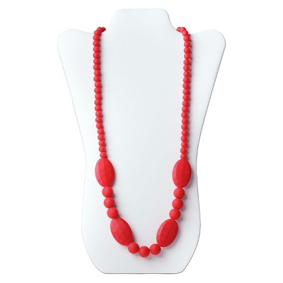 Nixi by Bumkins Ellisse Teething Necklace - Red