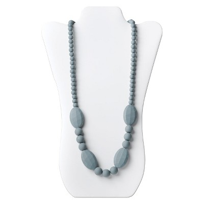 Nixi by Bumkins Ellisse Teething Necklace - Gray