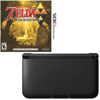 Nintendo 3DS XL Black + Zelda: Link Between Worlds (Nintendo 3DS XL)