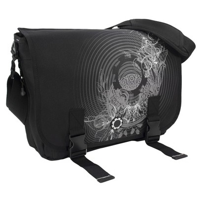 DadGear Messenger Diaper Bag - Concentric Circles