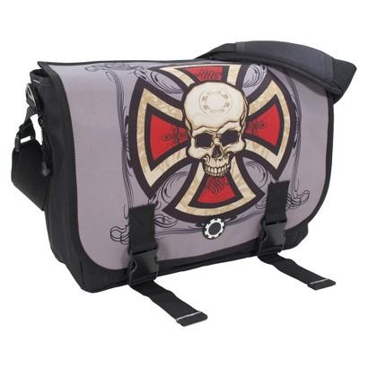 DadGear Messenger Diaper Bag - Cross & Skull