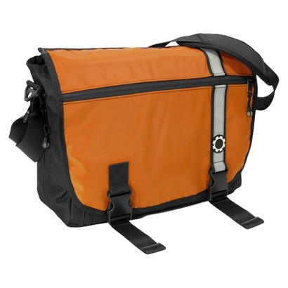 DadGear Messenger Diaper Bag - Retro Stripe Orange