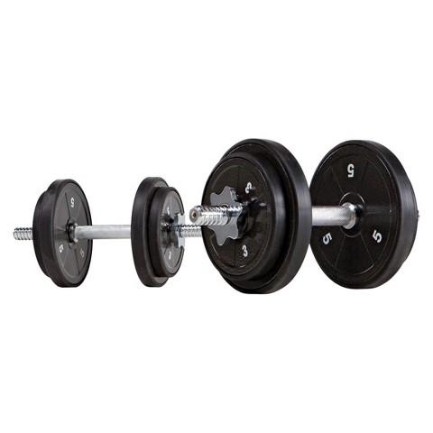 Marcy Eco Iron 40 lb. Adjustable Dumbbell Set (ADS42)