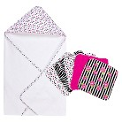 Trend Lab Zahara Dot 6pc Hooded Towel Baby Bath Set - Pink
