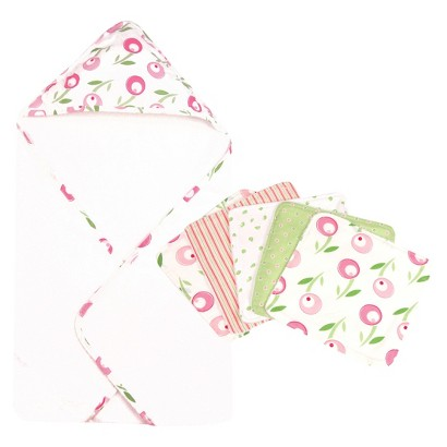 Trend Lab Tulip 6pc Hooded Towel Baby Bath Set - Pink