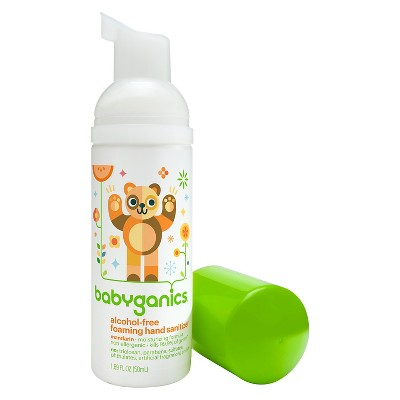 Babyganics On-The-Go Alcohol-Free Foaming Hand Sanitizer, Tangerine - 1.69oz Pump Bottle