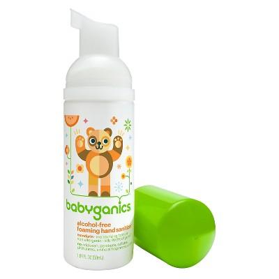 Babyganics On-The-Go Alcohol-Free Foaming Hand Sanitizer, Tangerine - 1.69oz Pump Bottle